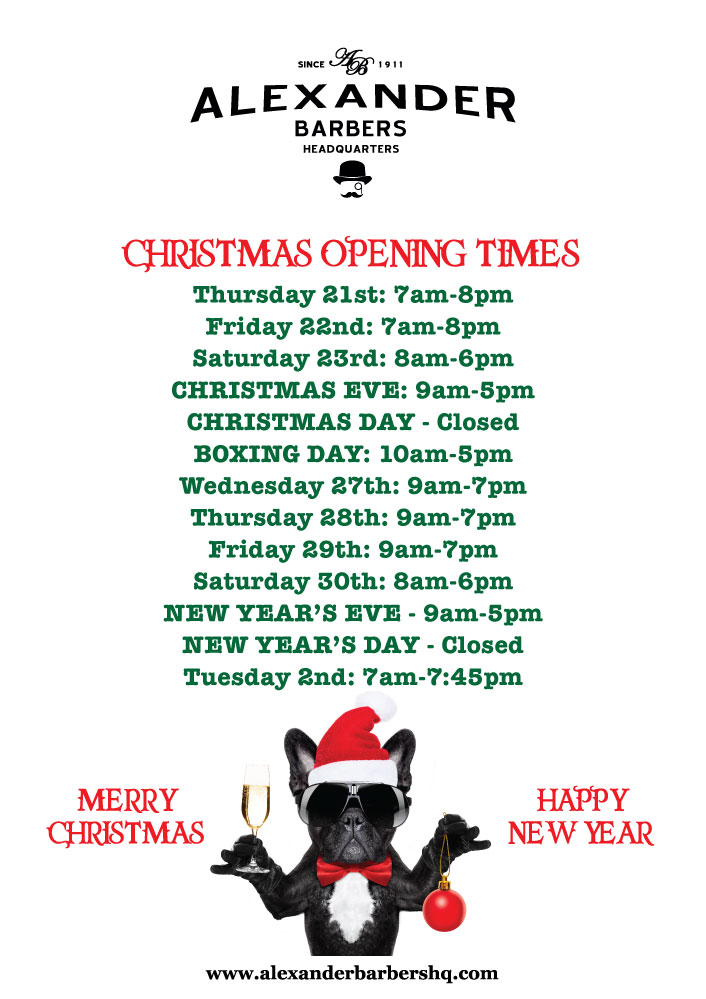 Hammersmith-Barbers-Christmas-Opening-Times-2017